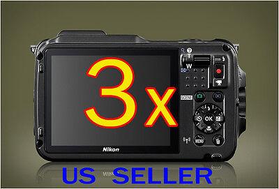 3x Nikon Coolpix AW120 Camera Clear LCD Screen Protector Guard Shield Film