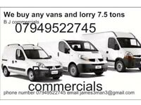 We buy any vans we pay on the spot cash