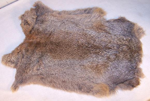 10 BULK LOT NATURAL GREY GENUINE RABBIT SKIN tan hide fur pelt craft skins bunny