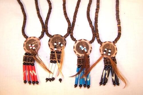 10 FEATHER  MEDALLION NECKLACE  costume jewelry beautiful warrior new