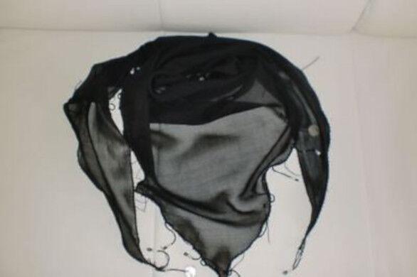 Dreieckstuch mit Perlen und Münzen aus 100 % Polyester Farbe Schwarz