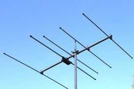 HF Loft Antenna (bantenna) and SX50 2m 5 Element antenna