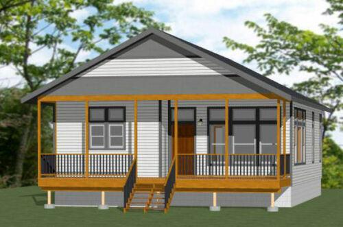 30x40 House -- 2 Bedroom 2 Bath -- 1,136 sq ft -- PDF Floor Plan -- Model 1C