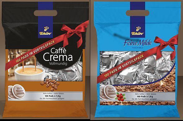 Tchibo Feine Milde 100  Kaffee Pads ( Mild und/oder Crema ) Senseo kompatibel