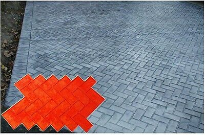 New Brick Herringbone Sanded Grout Decorative Concrete Cement Stamp Mat Rigid