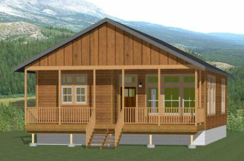 30x40 House -- 2 Bedroom 2 Bath -- 1,136 sq ft -- PDF Floor Plan -- Model 1