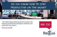 TRAVEL FOR WORK? REGUS CAN HELP! $29