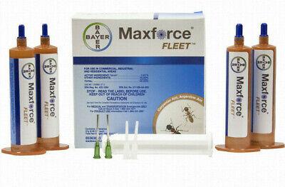 4 Tubes 4 Plungers Maxforce Fleet Ant Control Bait Gel Kill All Major Species