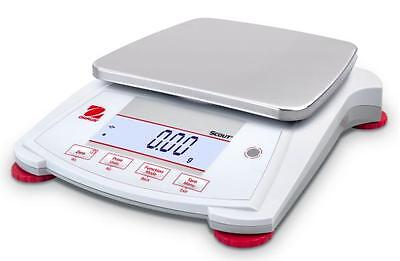 Ohaus Spx2201 Lab Balancecompact Gold Portable Scale2200gx0.1g Ac Adapternew