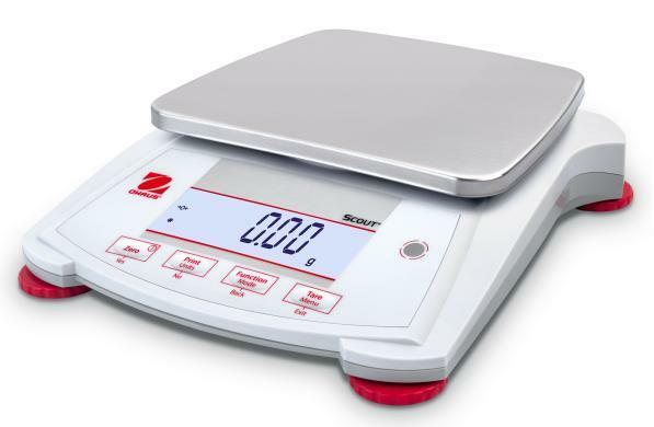 Ohaus SPX 8200 Lab Balance, Compact Gold Scale, 8200g X1 g, AC Adapter,New