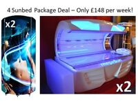 Commercial Sunbed Package Deal - New Start Salon - 4Sunbeds = £148 per week