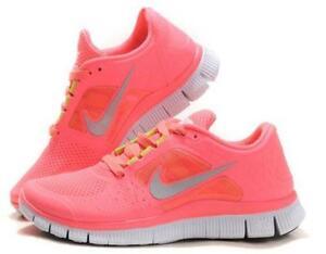 cheap for discount 799cc a19a2 nike pink free runs