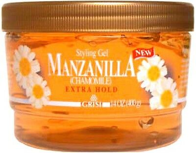 Grisi Manzanilla Chamomile Hair Style Gel | Extra Firm, Natu