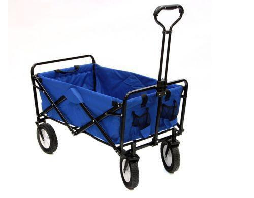 Folding beach cart ebay for Folding fishing cart