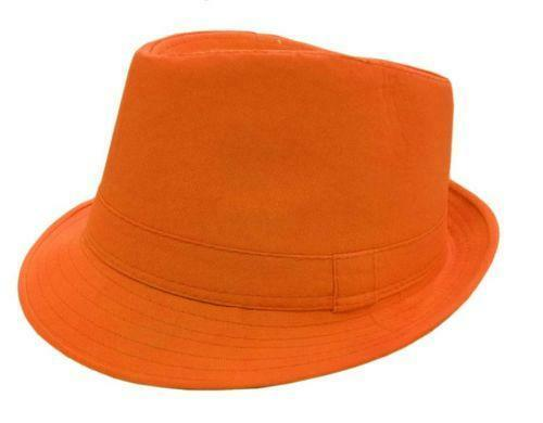 Orange Fedora  Clothing 33005de22b5