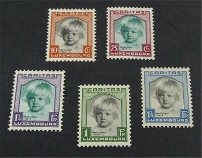 nystamps Luxembourg Stamp # B45-B49 Mint OG H $36   L23y658