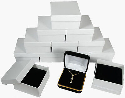 12 Piece Black Velvet Necklace Earring Jewelry Gift Box 2 58 X 2 58 X 1 38