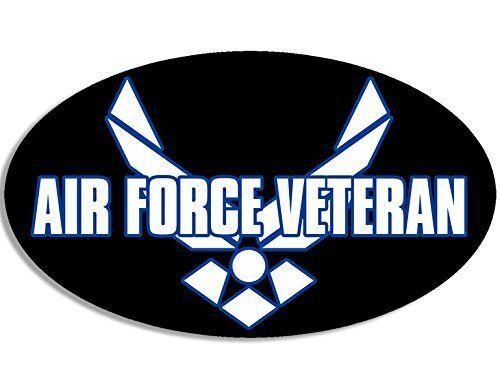 Oval AIR FORCE VETERAN Sticker (military usaf vet)