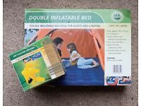 Inflatable double matress and pump