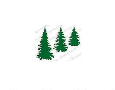 Evergreen Trees Die Impression Obsession Io Stamps  Die217 E  Sizzix Cuttlebug