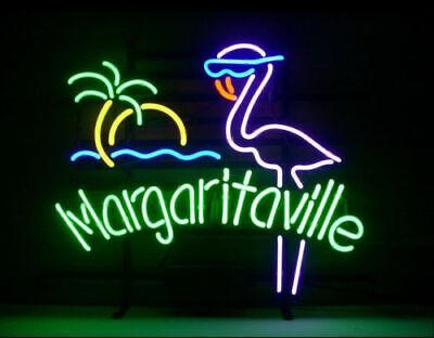New Margaritaville Pink Flamingo Neon Light Sign 17