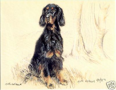 GORDON SETTER GUNDOG DOG FINE ART LIMITED EDITION PRINT