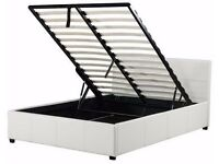 lift ottoman double bed matt white