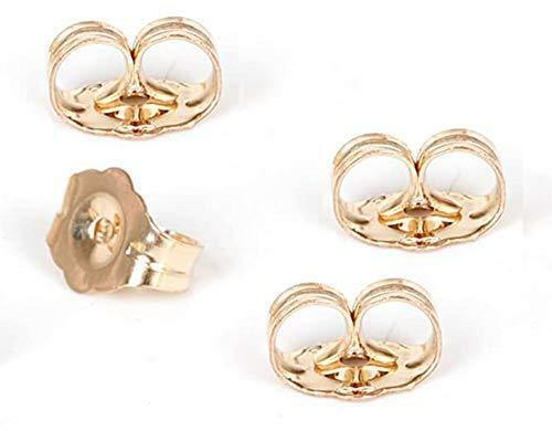 14K Gold Earring Backs - 4 Piece Replacement Earring Backs for Stud Ear Rings 2