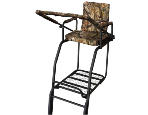 22 falcon ladder stand adjustable shooting rail