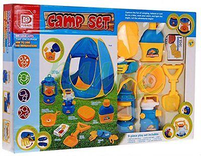 set Tenda da Gioco Campeggio Spiaggia POPUP + Accessori Casa Giardino Bambini