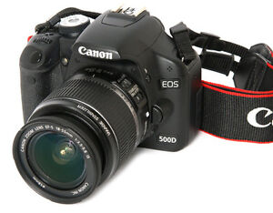 CANON EOS REBEL 500D, 15.1 MP, 32GB, HD 1080p, SAC, COMME NEUF