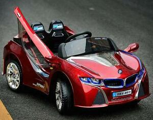 NEW BMW I8 STYLE RIDE ON CAR REMOVE 12V BATTERY RED TOY KIDS