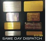 Engraved Metal Plaque