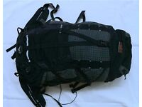 OMM Mountain Mover 55 + 15 litre lightweight rucksack with additional chest pouch