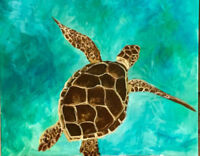 Paint Sea Turtle with Cocktails n Canvas