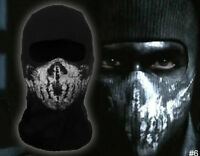 Call of Duty balaclava faceghost skullmask hood biker skateboard