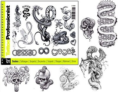 Snake Tattoo Designs (PRO 1 Snake Design Flash Book 82-Pages Sketch Photo Image Art Idea Tattoo)