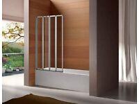 Bathstore 4-fold shower screen - brand new in box - RRP £189