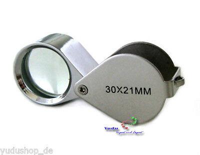 Lupe JuwelierLupe Taschenlupe faltbar 30 Fach Linse Ø21mm