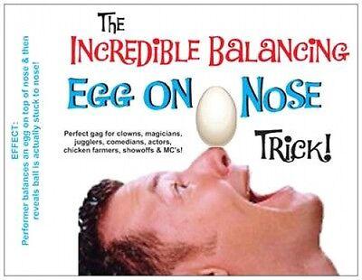 BALANCING EGG ON NOSE Balance Magic Trick Stunt Clown Kid Show Gag Joke Prank  - Kid Show Magic Trick