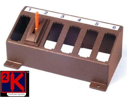 PECO PL-27 Turnout (Point) Switch Console - Holds 6 x PL-26 (not included) T48Po