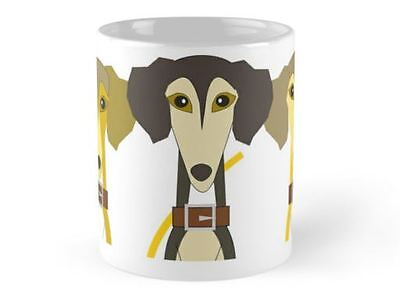 Novelty Cartoon Saluki Mug, Ideal gift for any Lover of Salukis.