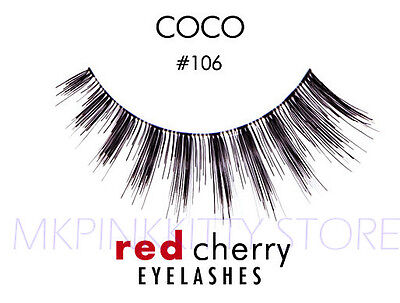 Red Cherry Lashes #106 False Eyelashes  Fake - Red Fake Eyelashes