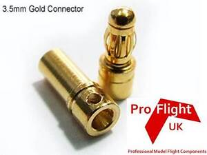 3.5mm Gold Bullet Connectors 10 Pairs!! **UK SALE**
