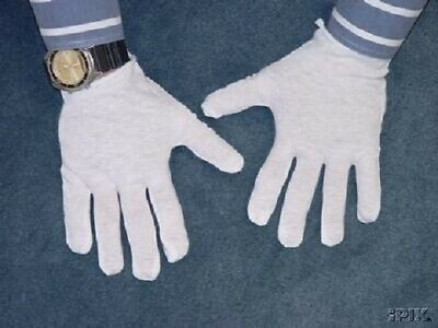 12 Pairs White Cotton Gloves For Dry Hand Moisturizing Cosmetic Eczema White New
