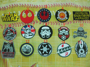15 pcs star wars ecusson broder patch
