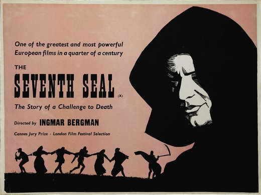 THE SEVENTH SEAL Movie POSTER 30x40 Gunnar Bjornstrand Max von Sydow Bibi