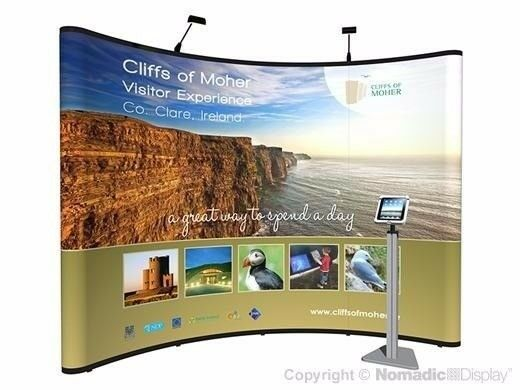 Exhibition Stand Extras : Nomadic ft wide exhibition expo displays with lighting