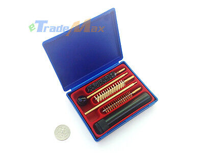6 Pcs Universal Gun Cleaning in Box Set .38 .357 9mm Barrel Sizes Rod Brush