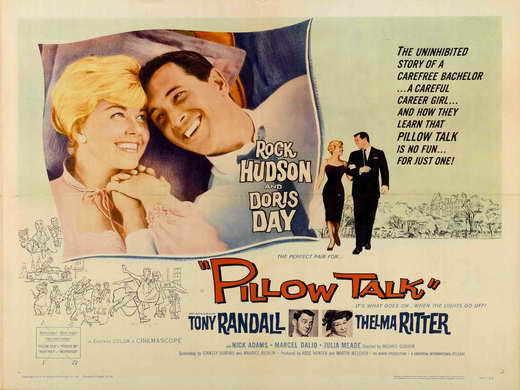 PILLOW TALK Movie POSTER 30x40 Rock Hudson Doris Day Tony Randall Thelma Ritter
